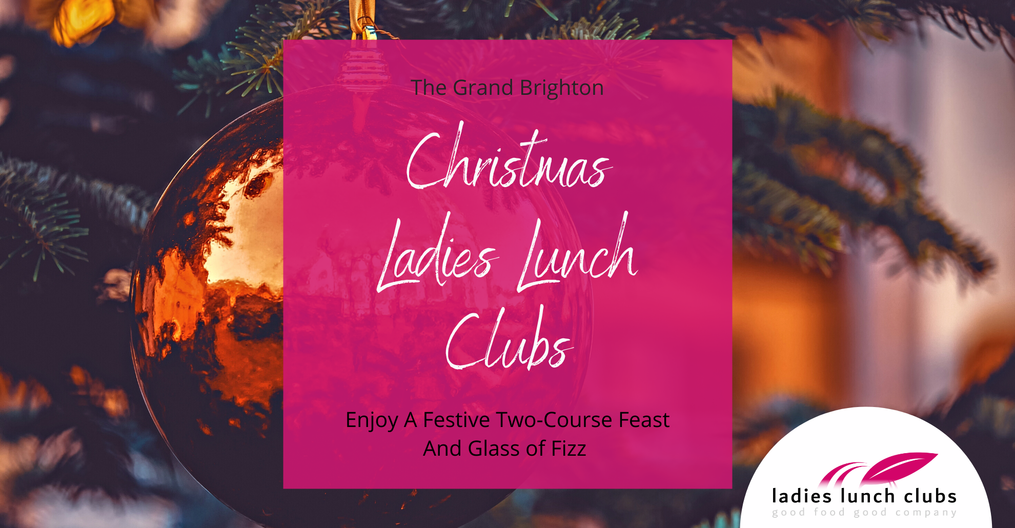 Ladies Lunch Clubs Networking women Christmas fizz
